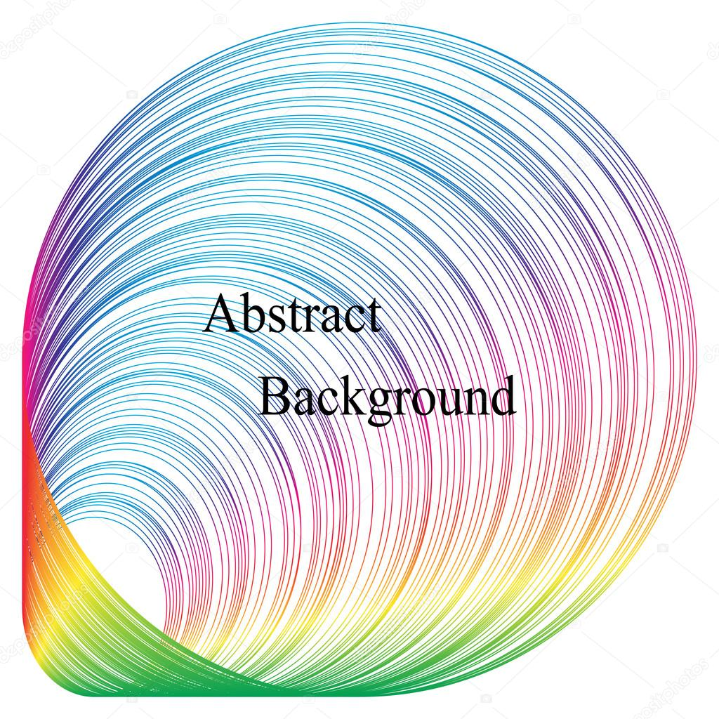 Der wachsende Kreis-Muster. Irisierende gestreiften Tunnel. Vorlage ...