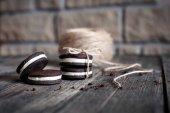 Fotografia biscotti al cioccolato dolci