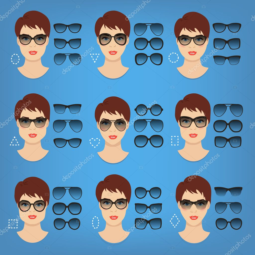 75d2011d93 Collection of woman sunglasses shapes for different women face types -  square