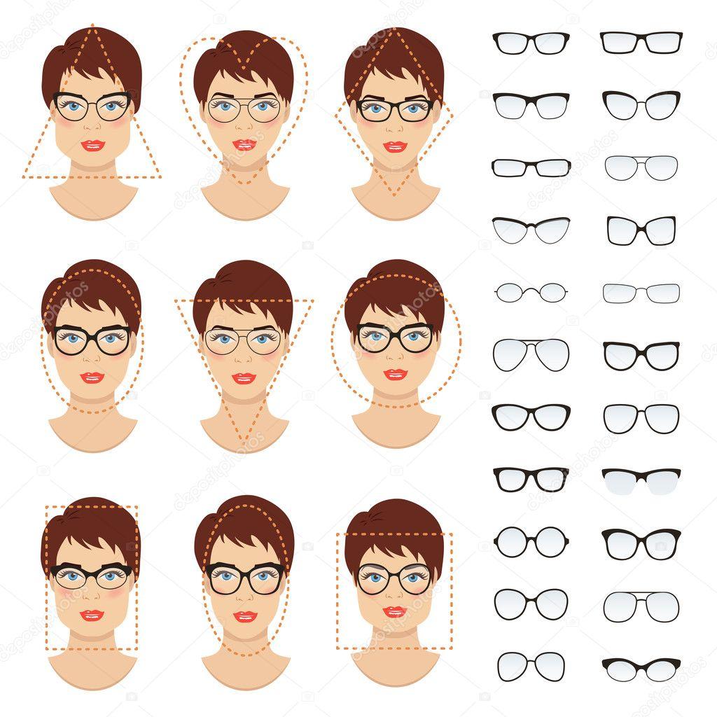 f65eedfa6 Conjunto de óculos de mulher molda para mulheres de diferentes tipos de  rosto - quadrado,