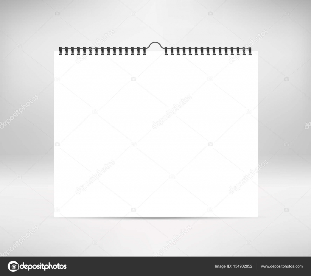 Blank Horizontal Calendar : Blank horizontal calendar mock up template sheets of