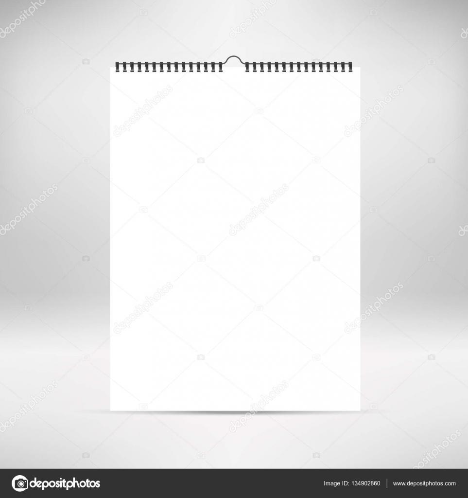Calendario vertical en blanco imitan para arriba, plantilla. Hojas ...