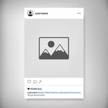 Social network photo frame. Instagram post.