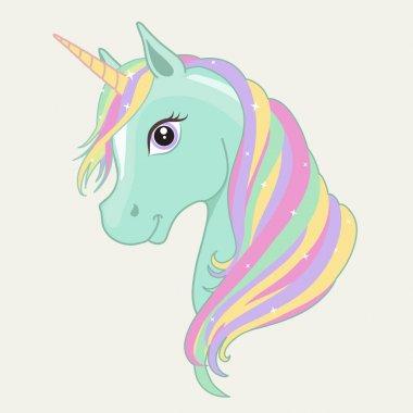Unicorn vector head.