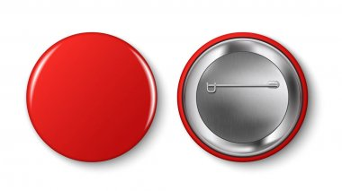 Red pin button.