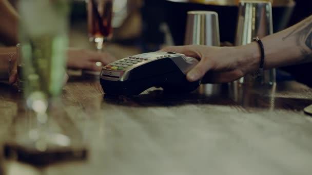 Credit card swipe on handheld terminal