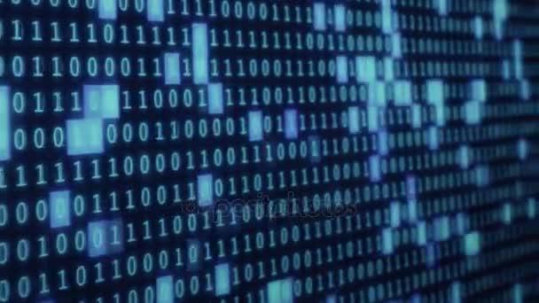 modré barevné digitální binární kód