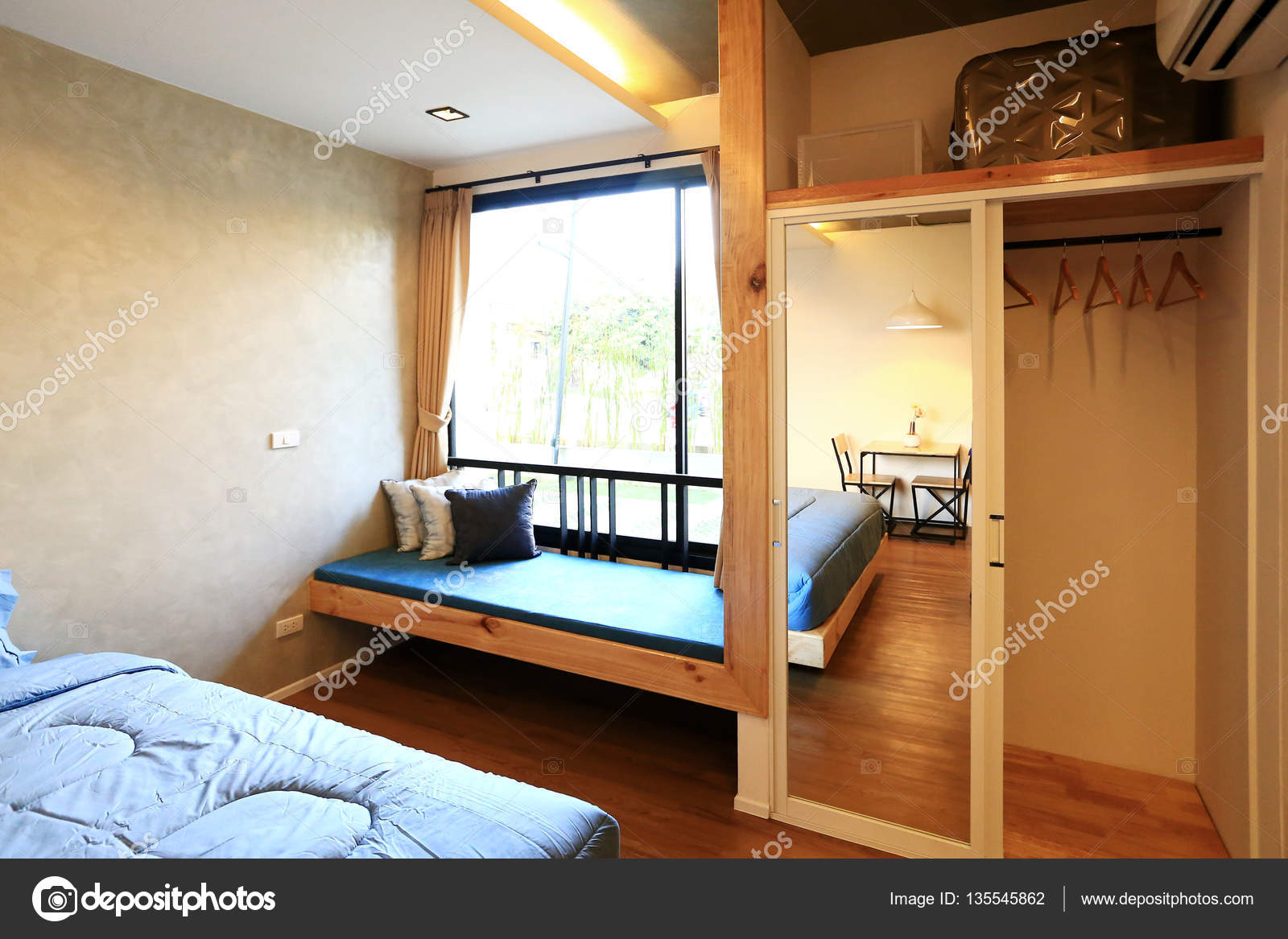 Design D Interieur De Chambre Avec Des Meubles Photographie S