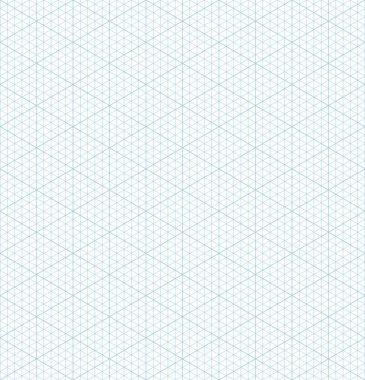 Isometric grid graph paper seamless pattern