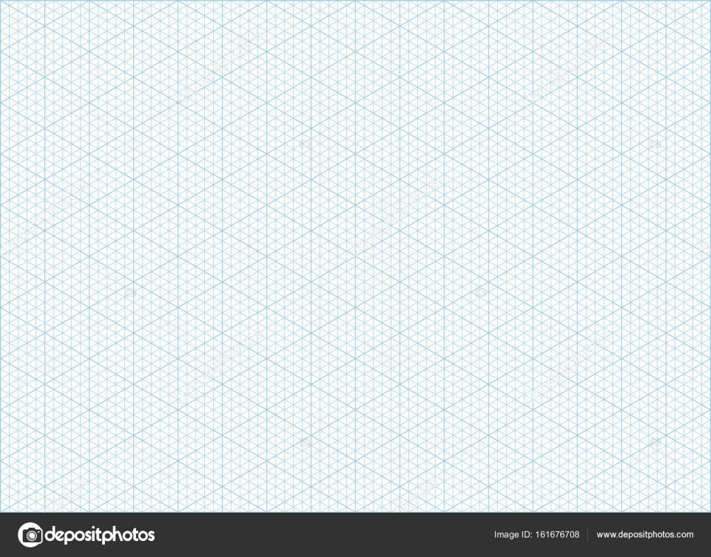 isometric grid graph paper background  u2014 stock vector