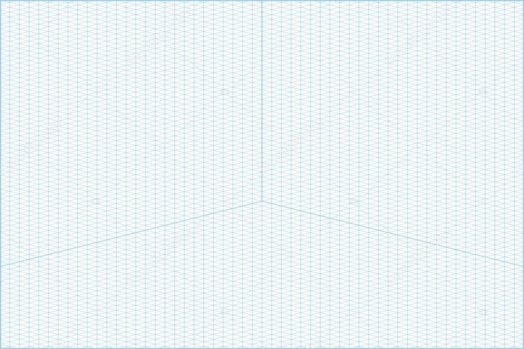 groothoek isometrische raster grafiek papier achtergrond