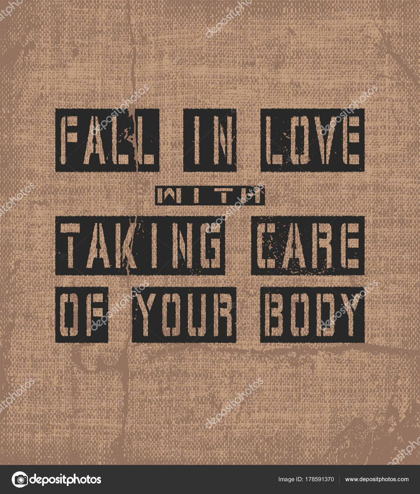 Inspiring Motivation Quote With Text Fall In Love With Taking Care