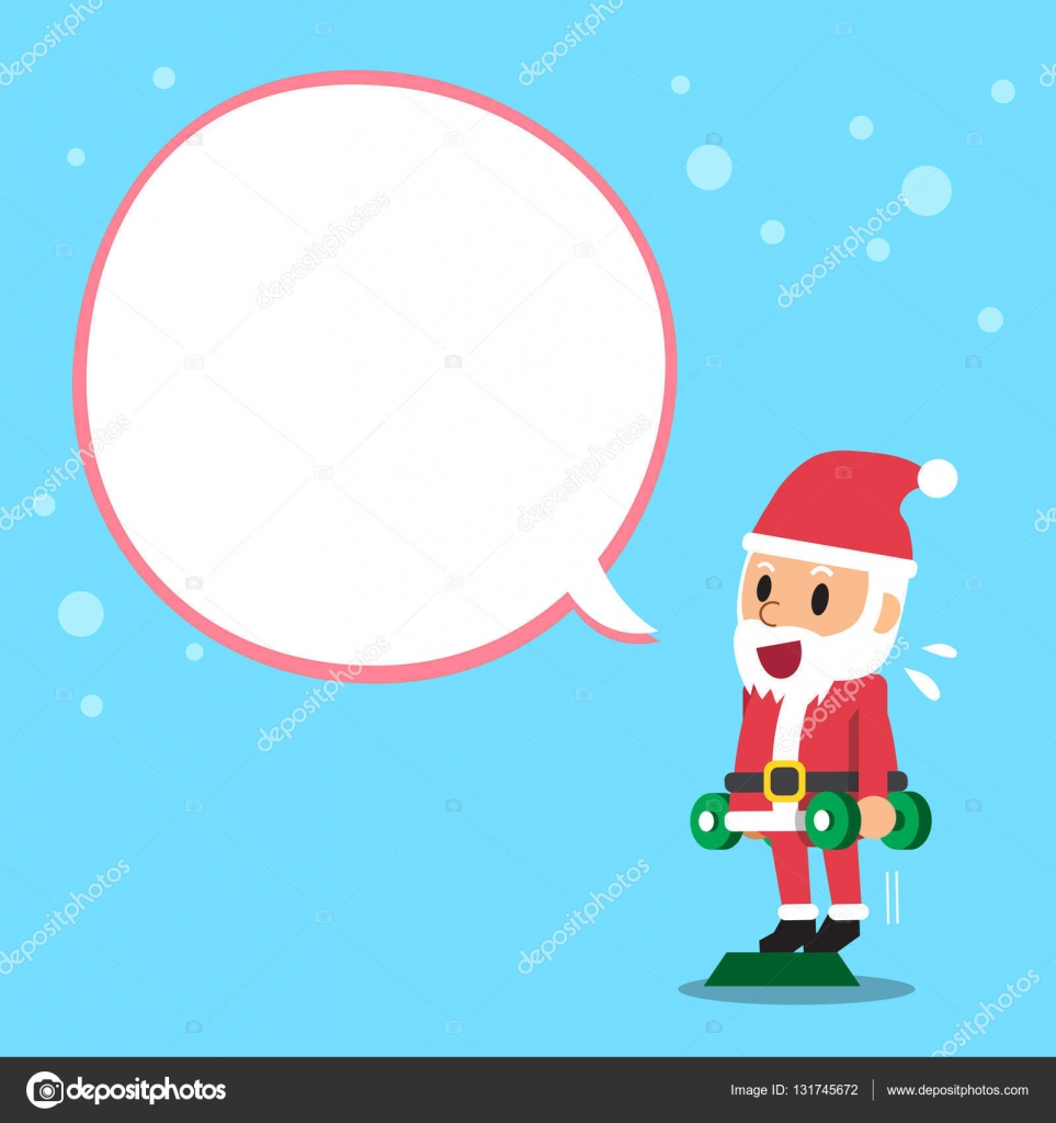 Santa Claus Doing Standing Dumbbell Calf Raise Exercise With White
