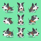 Fotografie Cartoon Charakter Bull Terrier Hund Posen