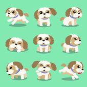 Fotografie Cartoon Charakter Shih Tzu Hund Posen
