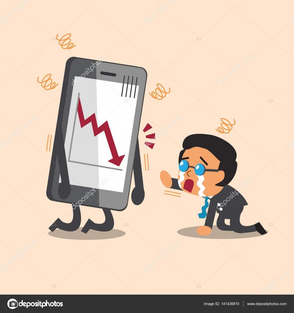 desenhos animados negócios chefe chorar com show de seta do mercado