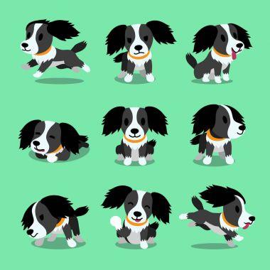 Cartoon character dog poses