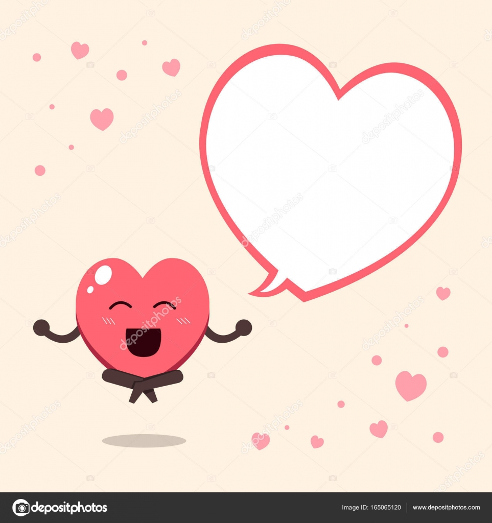 Cartoon a big heart character with speech bubble stock vector cartoon a big heart character with speech bubble for design vector by jaaak buycottarizona Image collections
