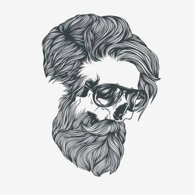 Bearded man with glasses