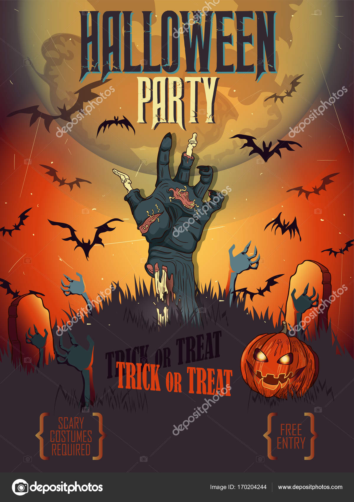 Halloween Poster Background Free.Halloween Poster Card Background Stock Vector