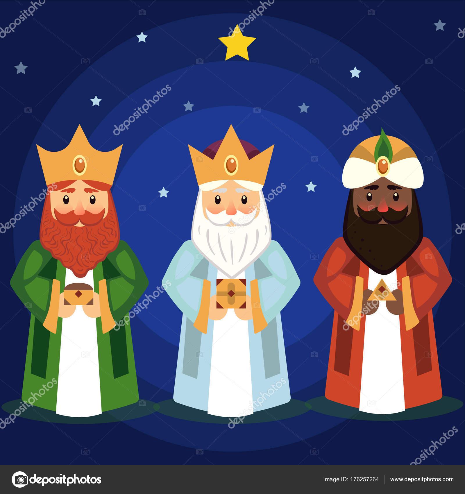 Imagenes Tres Reyes Magos Gratis.Imagenes Los Tres Reyes Magos Ilustracion De Vector De