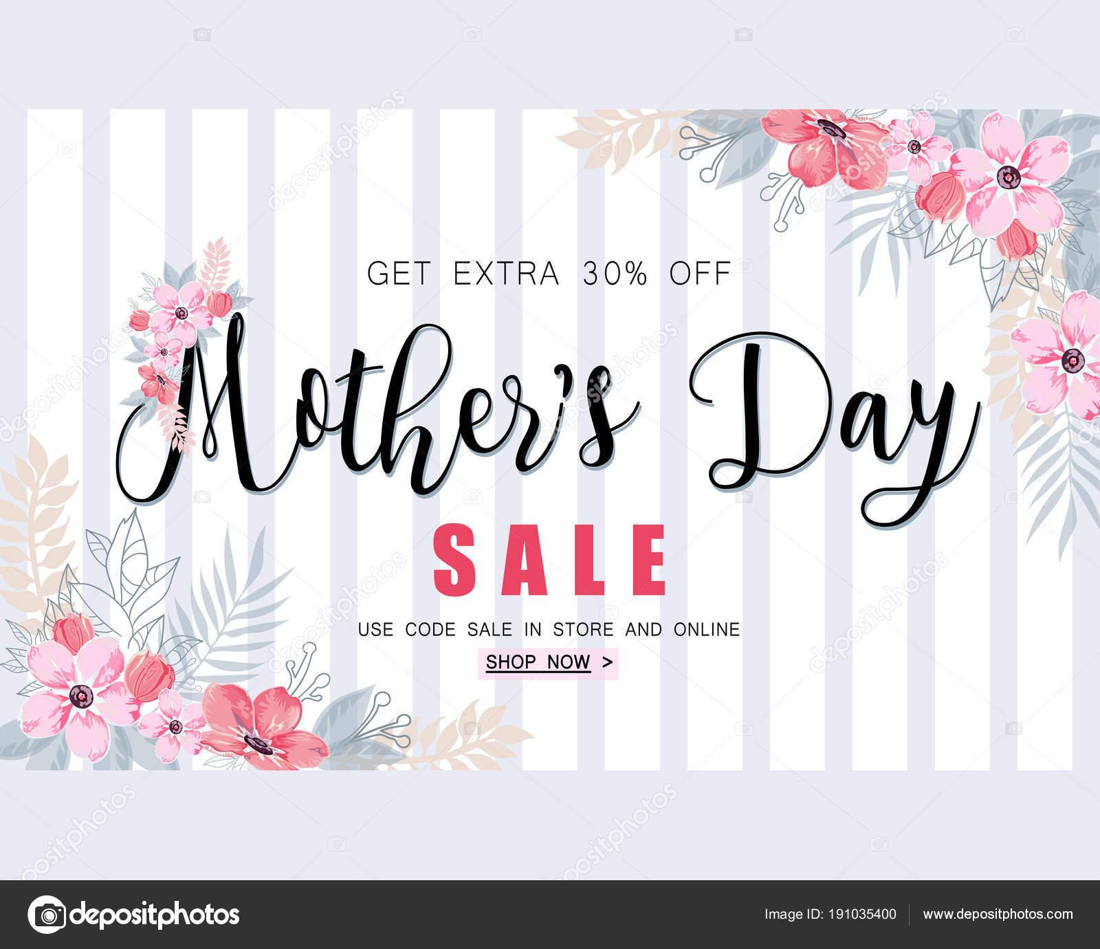Mütter Tag Verkauf Banner Vorlage für social-Media-Werbung ...