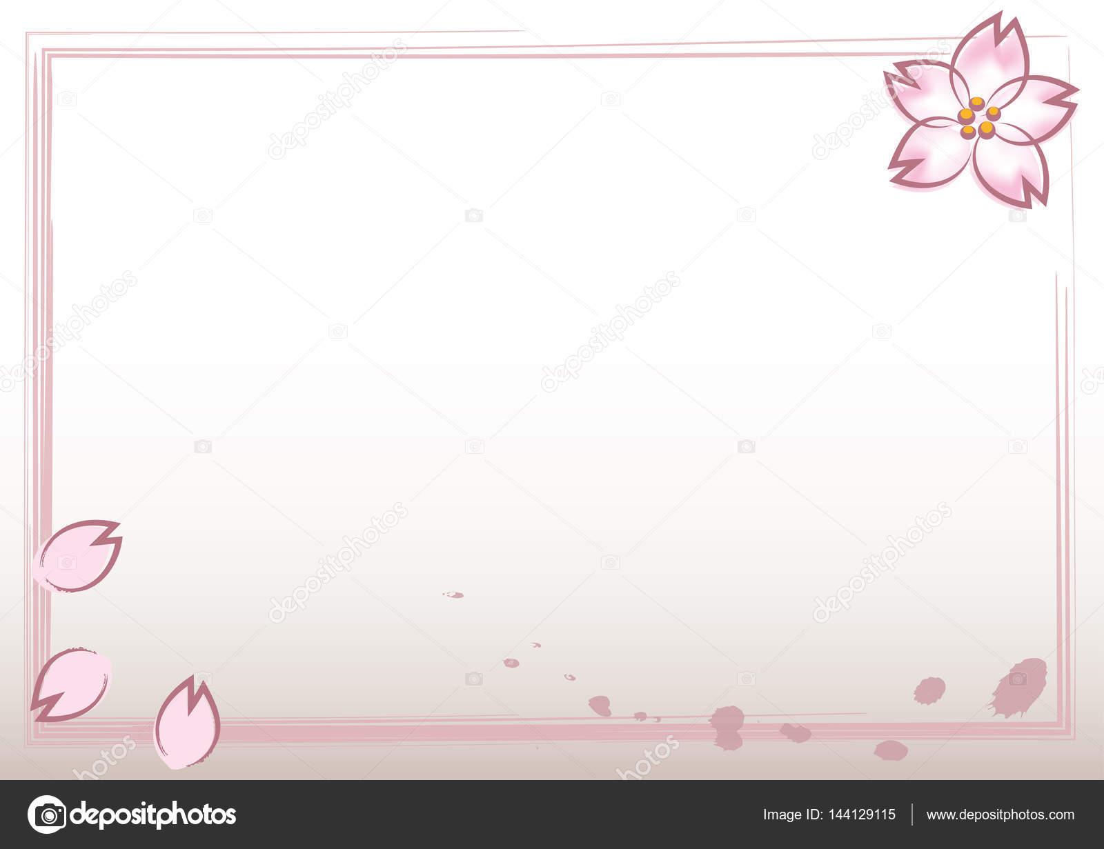 Vector Cerezo Png Marco De Estilo Japones Con Flores De Cerezo