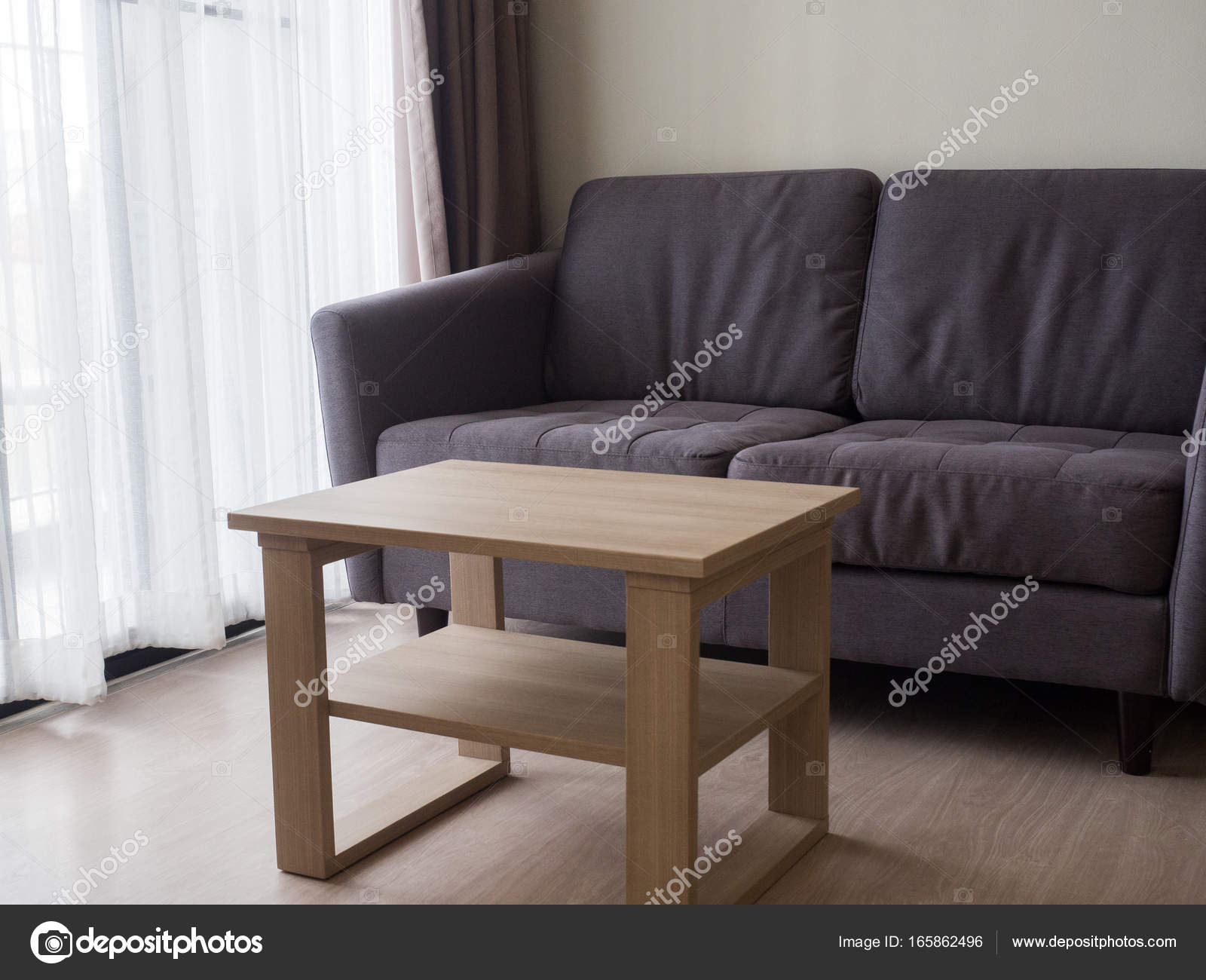 Gemütliches, Stilvolles Wohnzimmer Mit Sofa Set. Modernes Wohnzimmer Mit  Sofa Und Möbel U2014 Foto Von ...