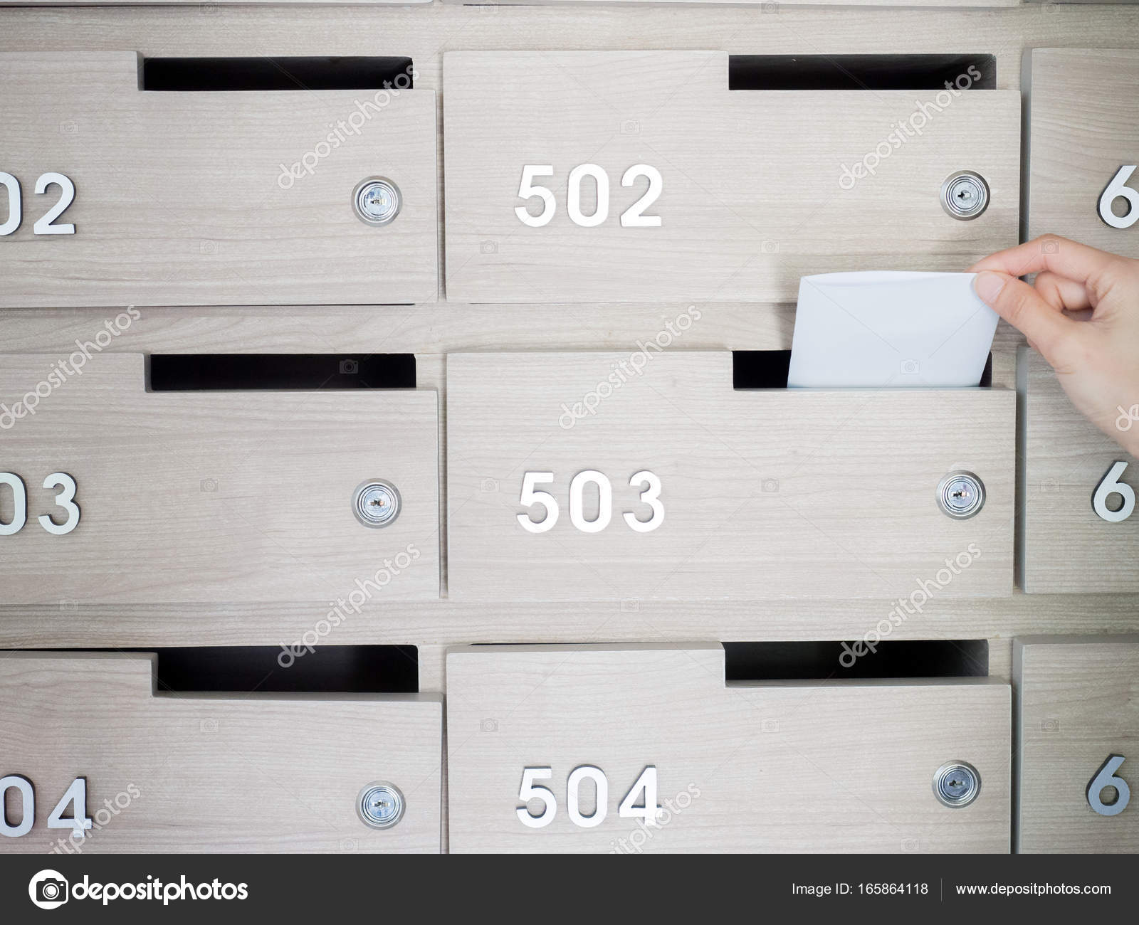 mailbox in the entrance hall of an apartment building — Stock Photo ...