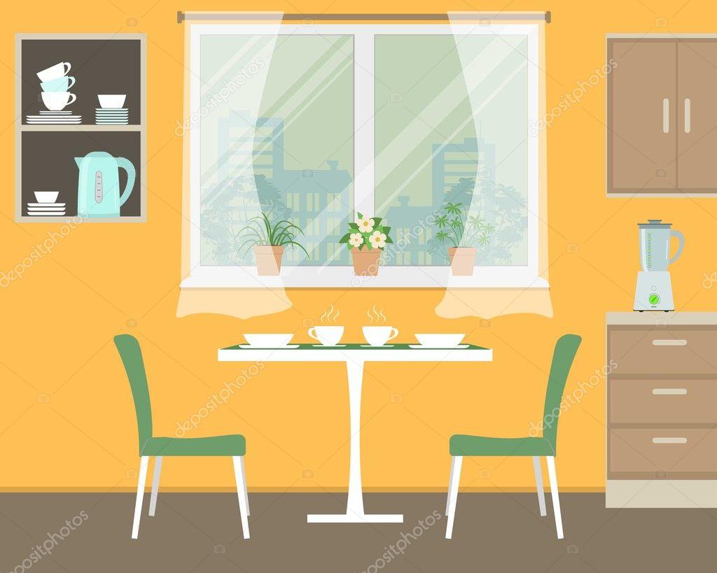 Cuisine en couleur orange — Image vectorielle Irynaalex © #128234194