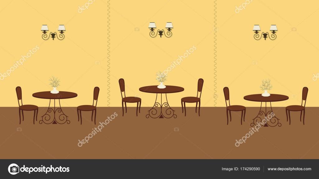 Interior Of Restaurant In Yellow Colors Stock Vector C Irynaalex 174290590