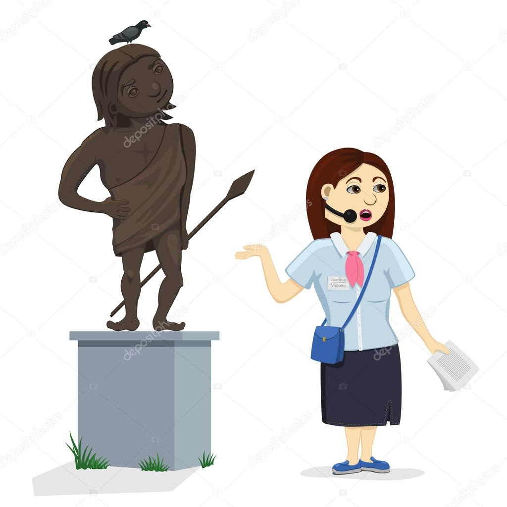 Áˆ Cartoon Tour Guides Stock Images Royalty Free Tour Guide Woman Vectors Download On Depositphotos