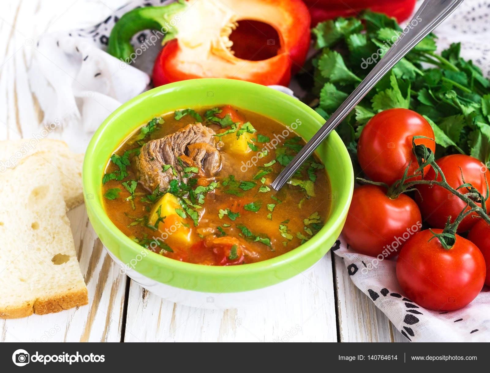 Кавказские супы с бараниной