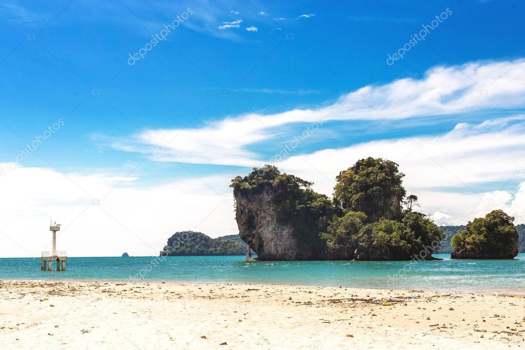 Exotic beach at Ao Nang, Krabi Province, Thailand.