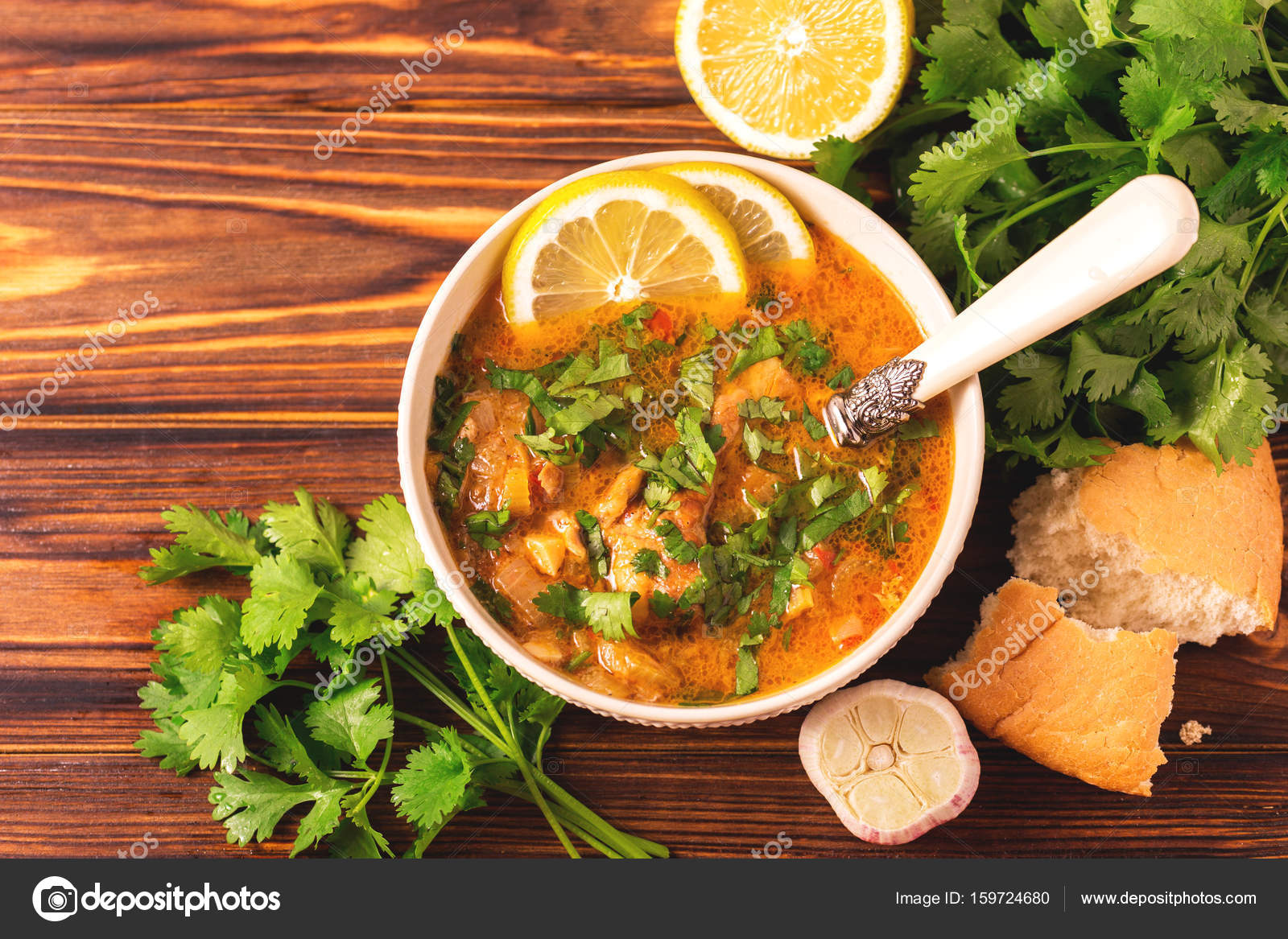 Jewish Wedding And Holyday Yemenite Beef Soup Marak Temani Stock