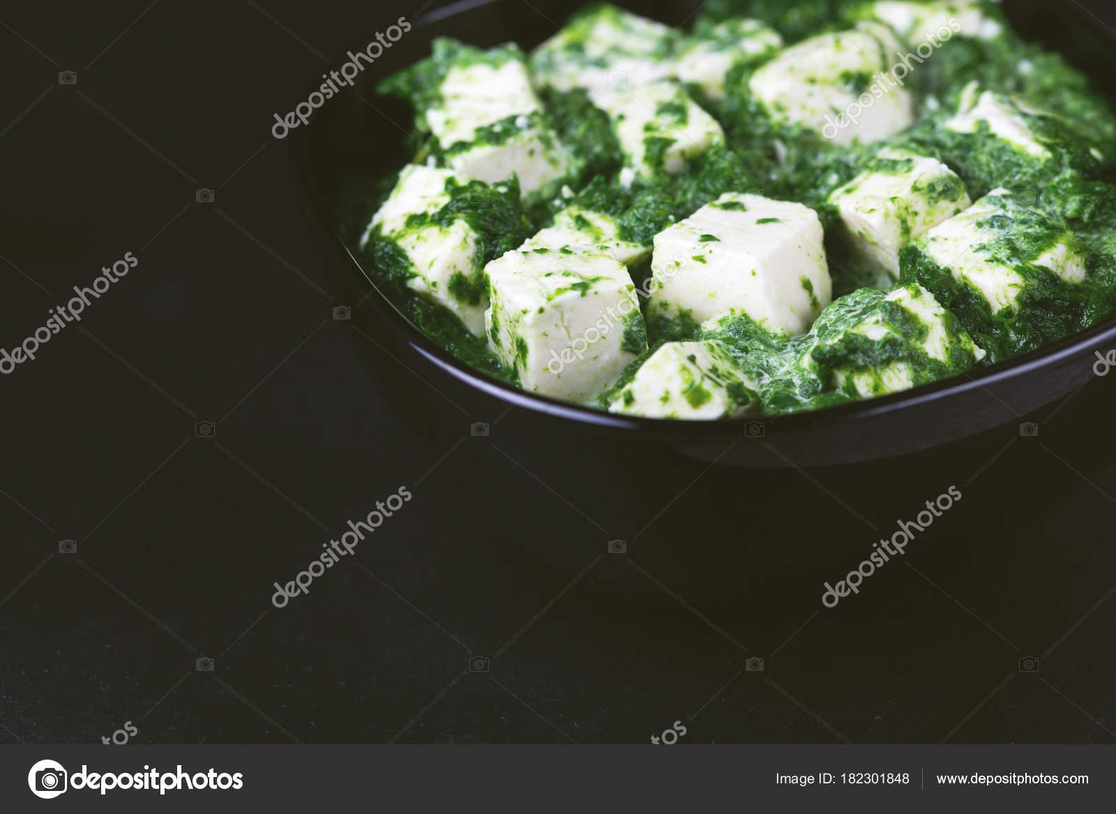 Traditionelle indische Küche. Hausgemachte Palak Paneer. Exemplar ...