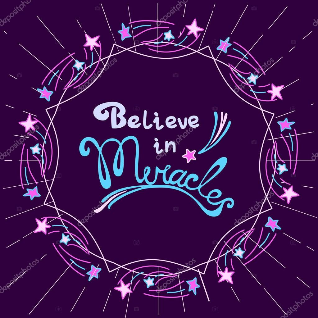 Glaube an Wunder — Stockvektor © 64samcorp.gmail.com #129862286