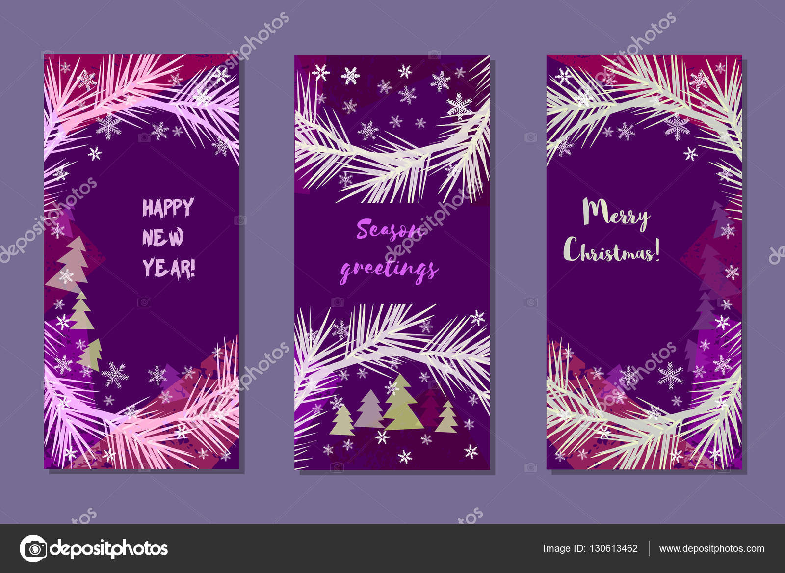 set of vertical vector banners season greetings merry christmas happy new yearvintage style design element for creative leaflet brochure background