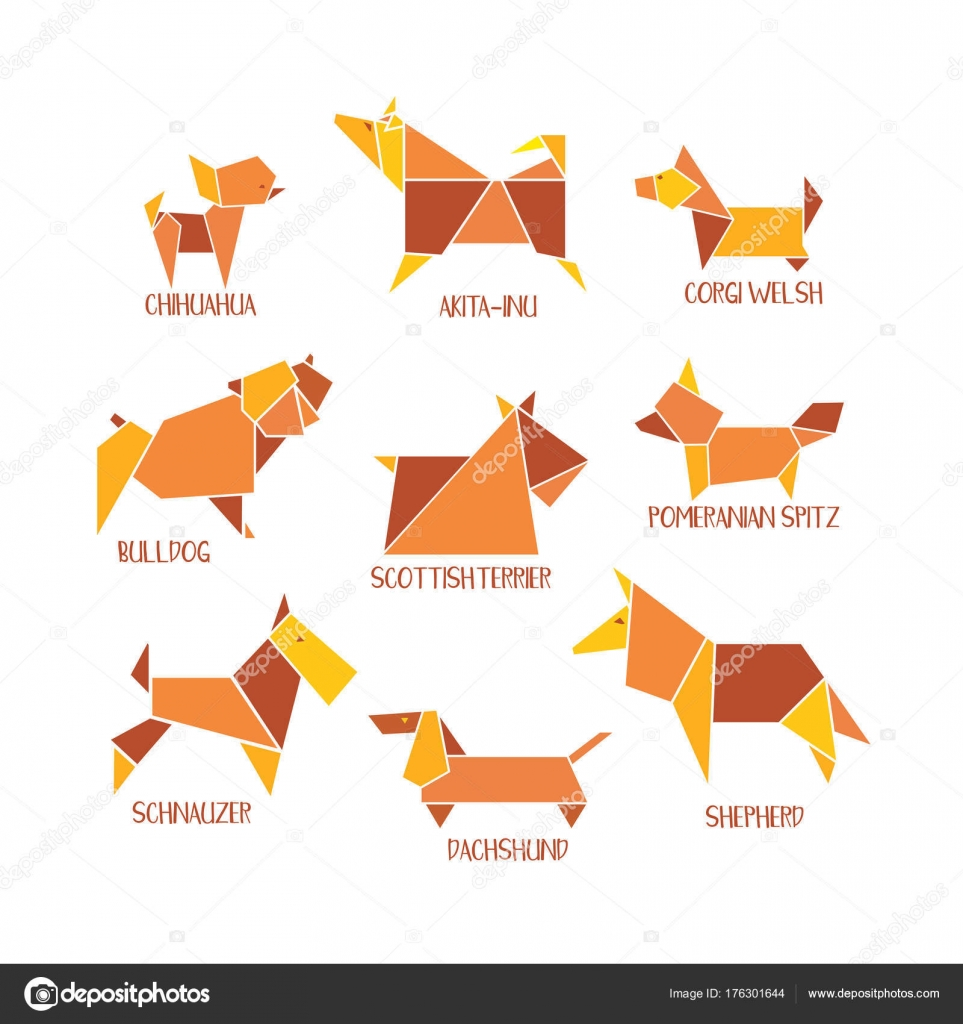 Origami dogs collection — Stock Vector © 64samcorp.gmail.com #176301644