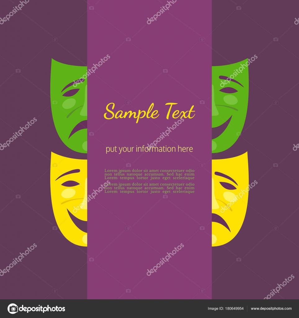 Cartel de la máscara teatro — Archivo Imágenes Vectoriales ...