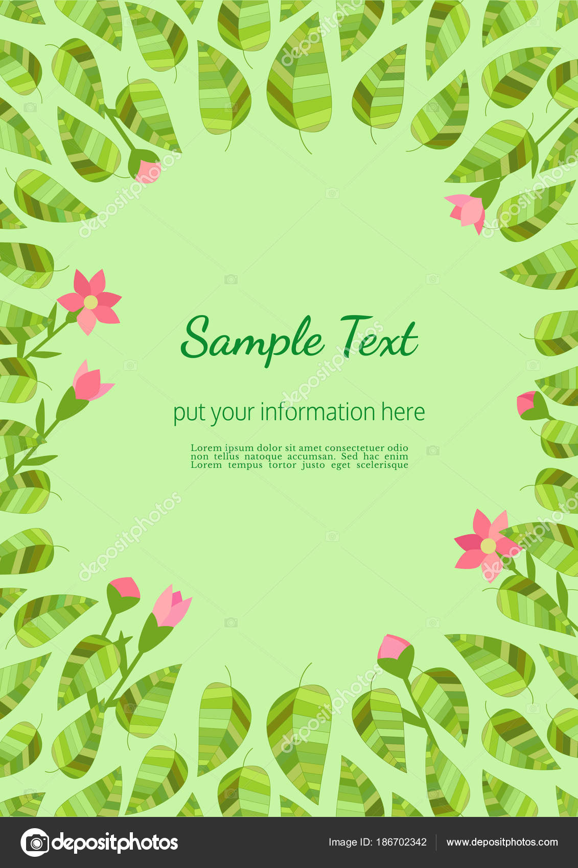Template Spring Flyer Stock Vector 64samcorpail 186702342