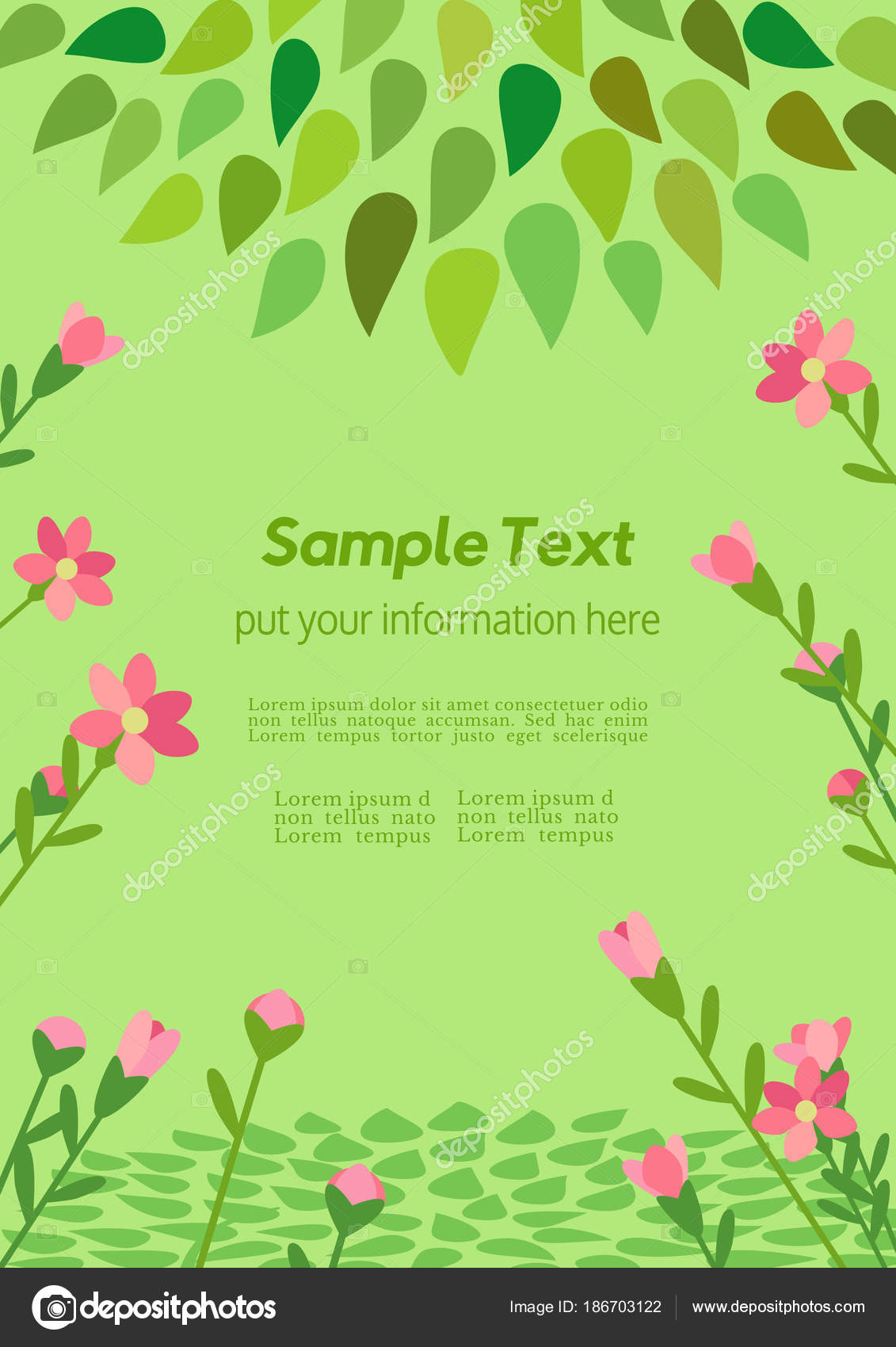 Template Spring flyer — Stock Vector © 64samcorp.gmail.com #186703122