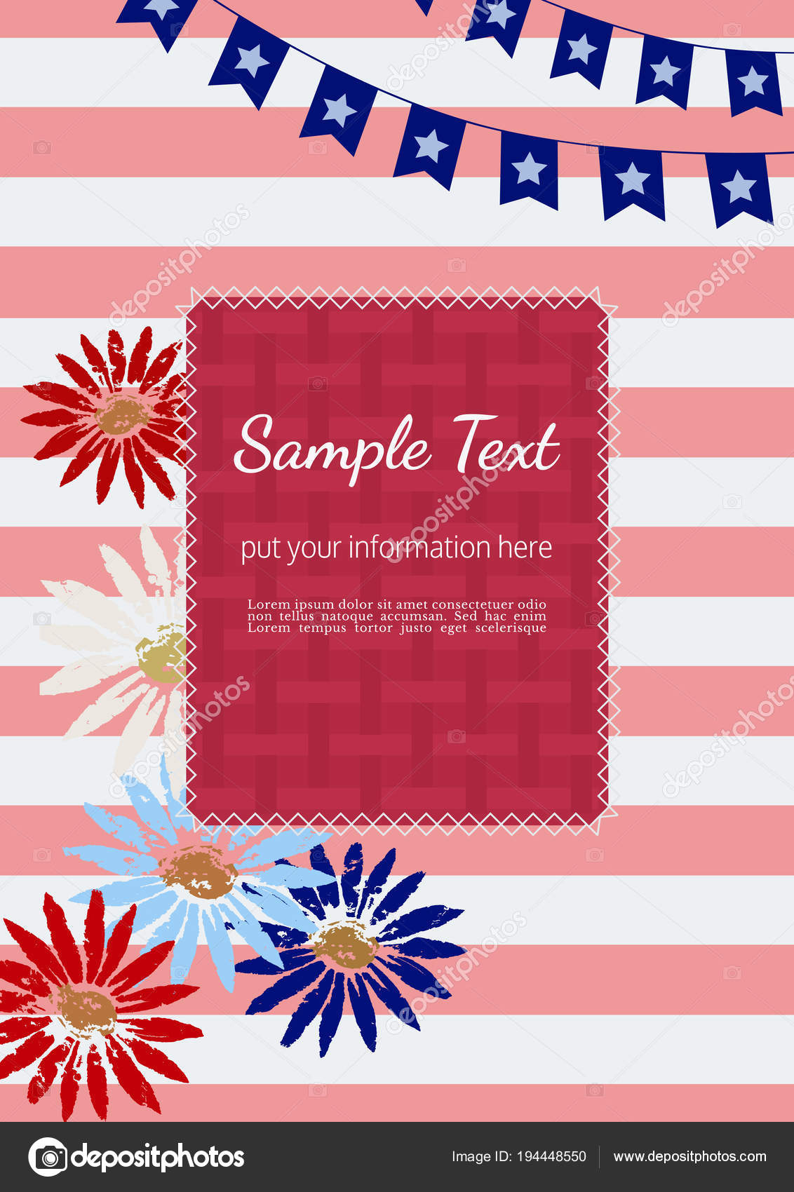 Happy American holiday poster — Stock Vector © 64samcorp.gmail.com ...