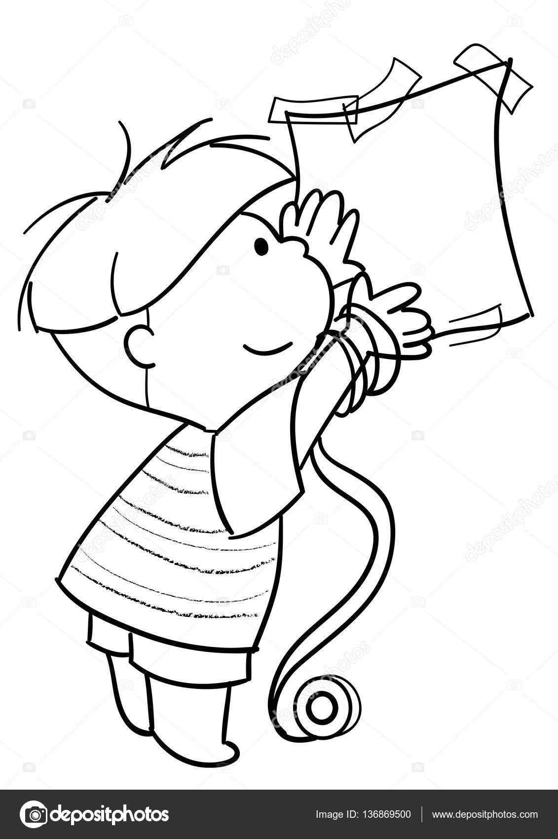 niño con hoja de papel — Archivo Imágenes Vectoriales ...