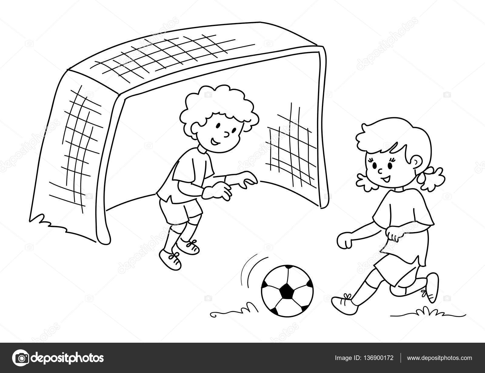 Friends Playing Soccer Vector Stock Vector C Carlacastagno