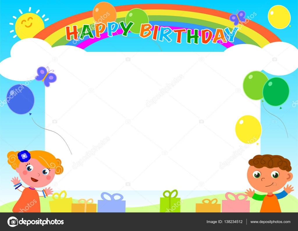 Happy Birthday frame Vector — Stock Vector © carlacastagno #138234512
