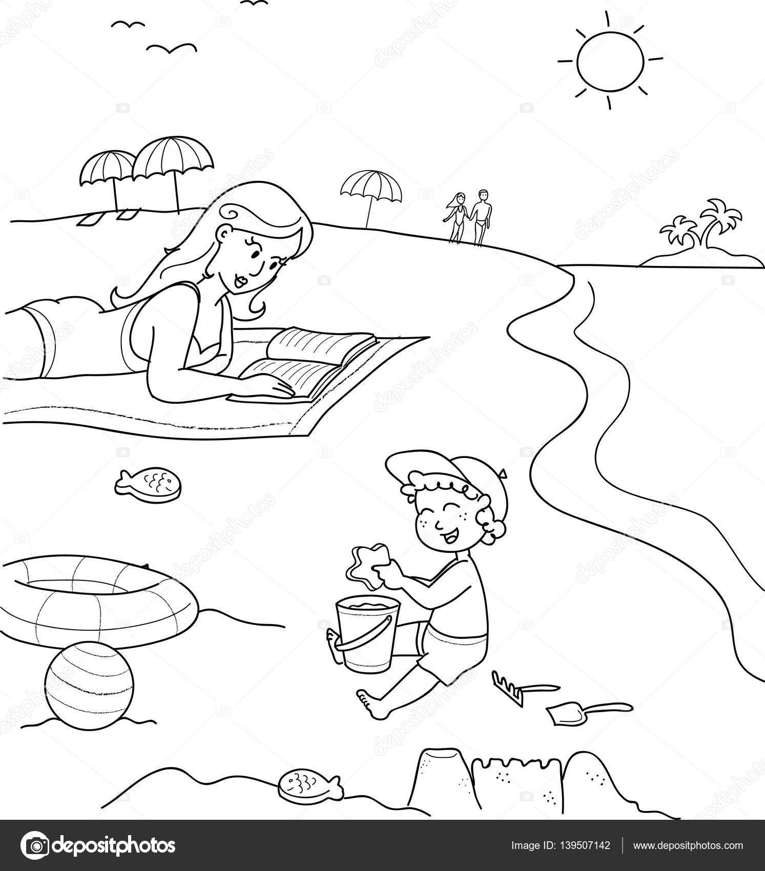 Dibujos Madre E Hijo Para Pintar Colorear Madre E Hijo En La