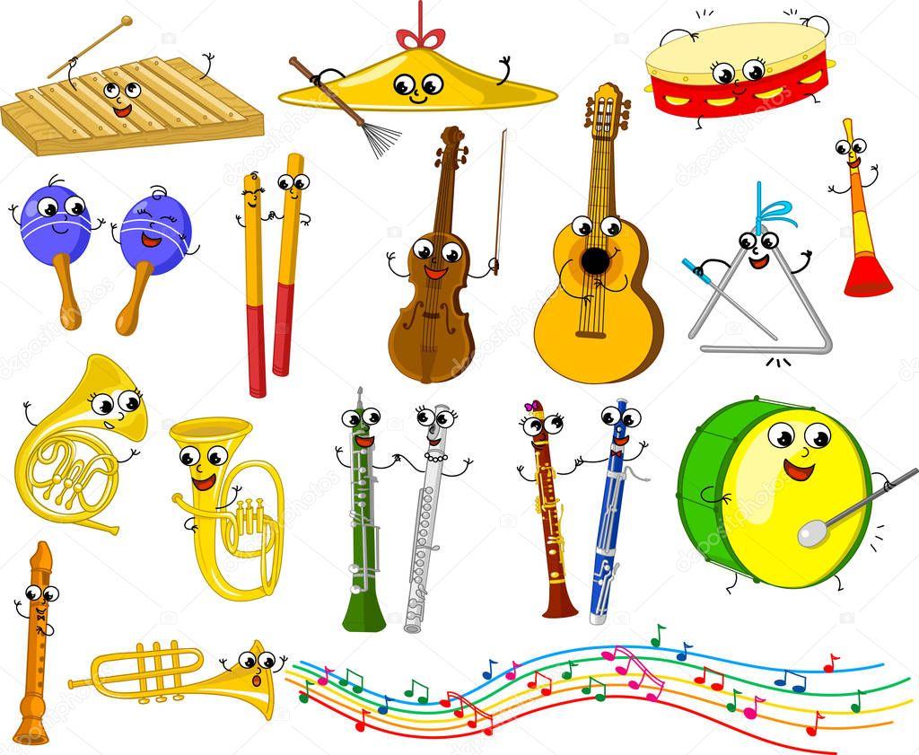 Музыкальные инструменты смешные картинка, бракосочетанием