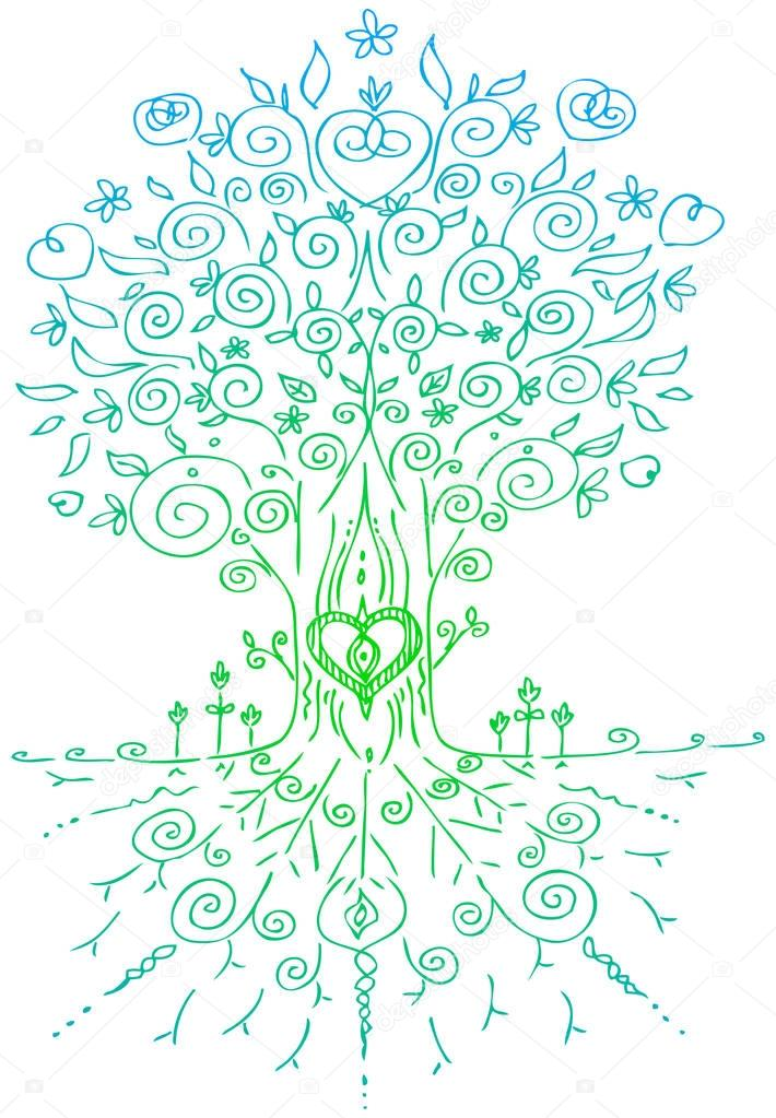 Tree of life digital illustration