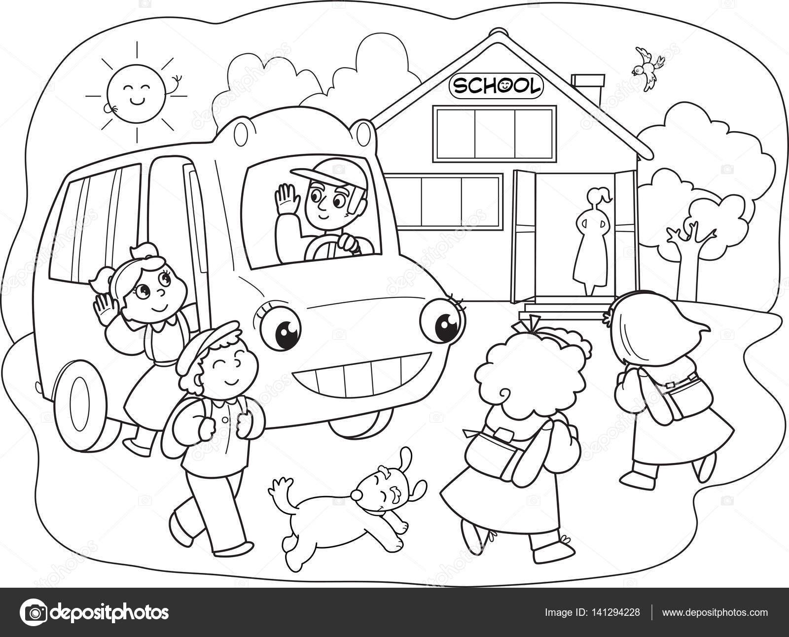 Alumnos De Dibujos Animados En Vectores Previamente Archivo